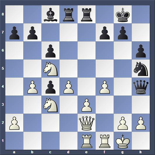 Schach Schachturnier Biel Navara Adams
