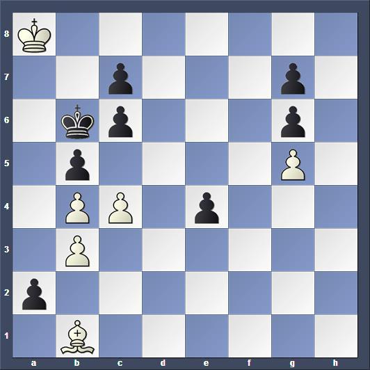 Schach Studie Grzeban