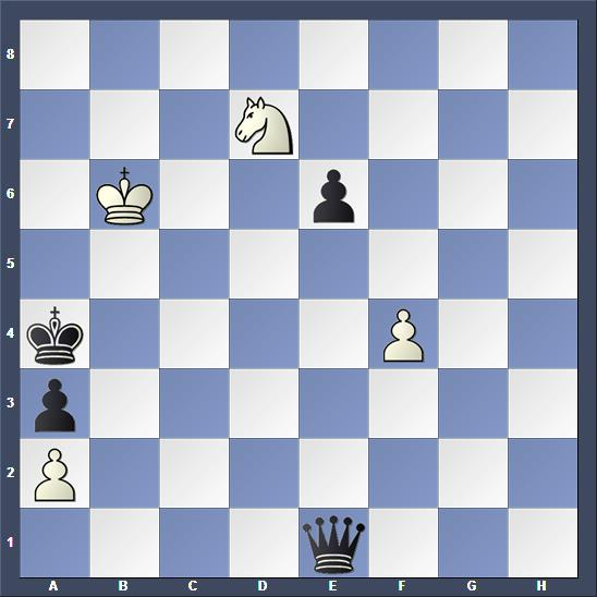 Schach Studie Maksimovskikh