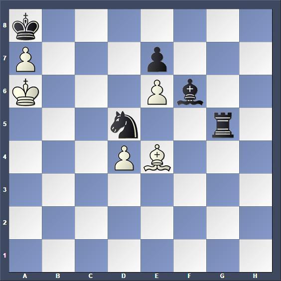 Schach Studie Bron Schlußstellung