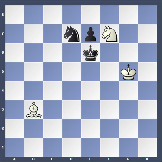Schach Studie Lommer