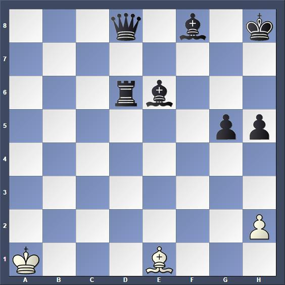 Schach Schachproblem Hutya