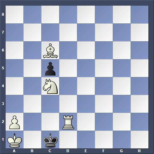 Schach Schachproblem Jäger
