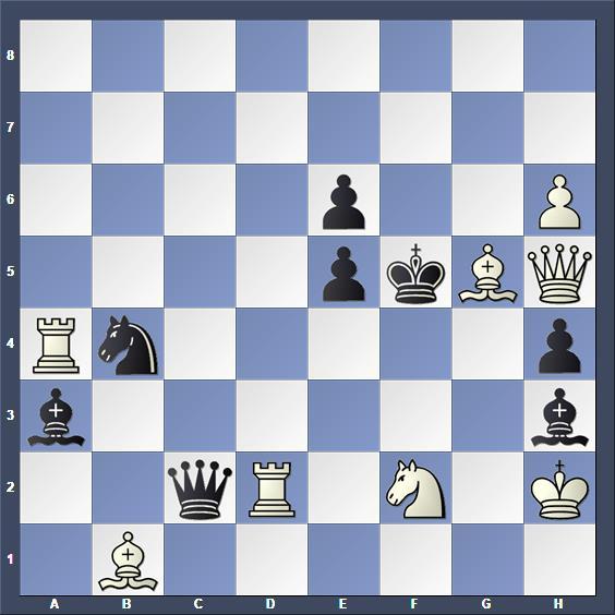 Schach Schachproblem Tritten